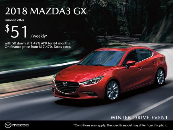 Coastline Mazda - Get the 2018 Mazda3 today!