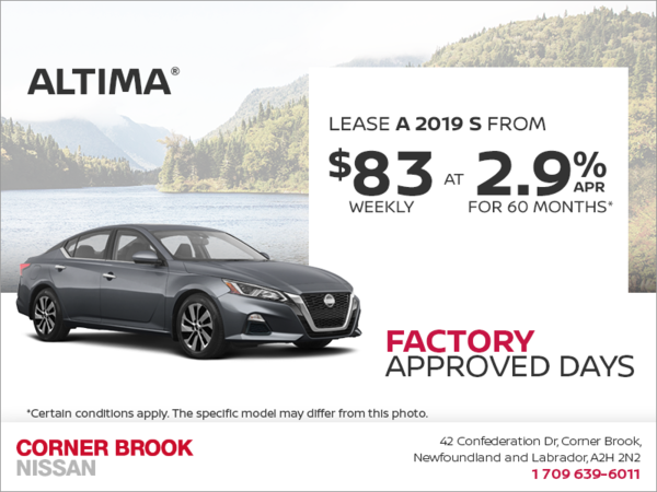Get a 2019 Nissan Altima Today!