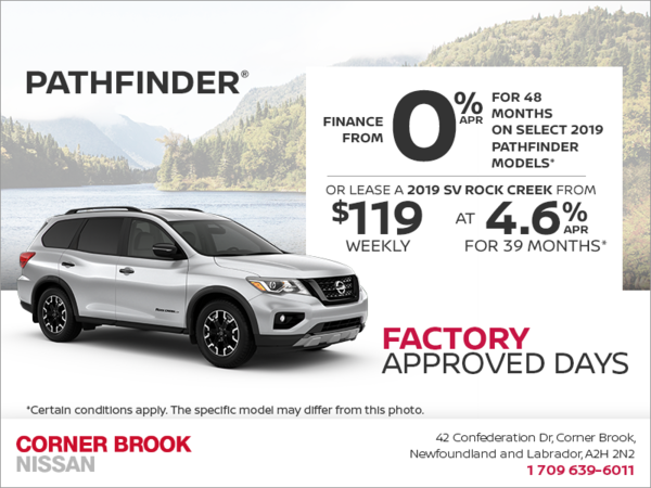 Get a 2019 Nissan Pathfinder Today!