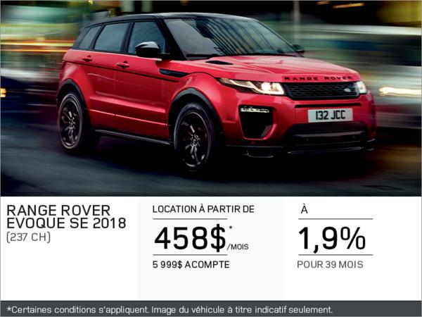 Le Range Rover Evoque 2018