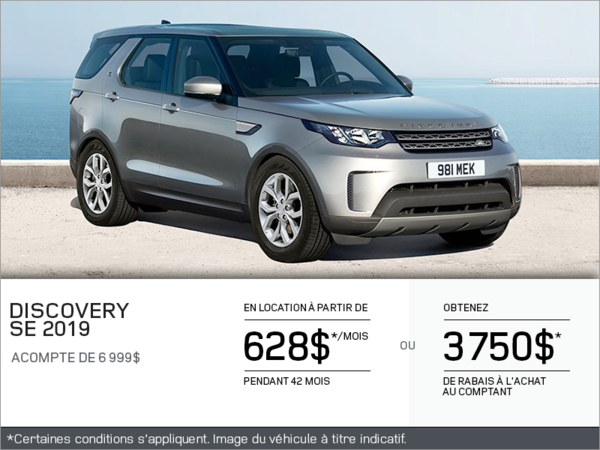 Le Land Rover Discovery SE 2019