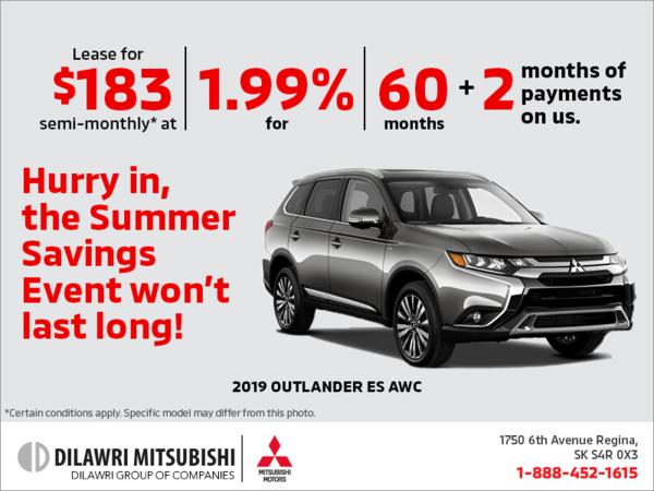 The 2019 Mitsubishi Outlander