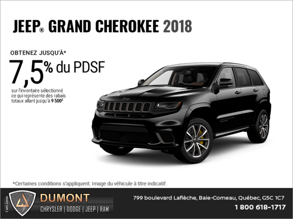 Conduisez un Jeep Grand Cherokee 2018!