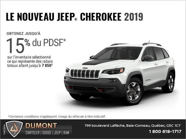 Conduisez un Jeep Cherokee 2019!