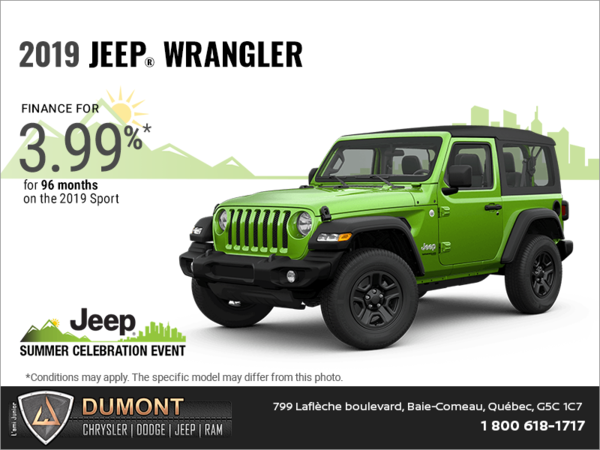 Get the 2019 Jeep Wrangler!