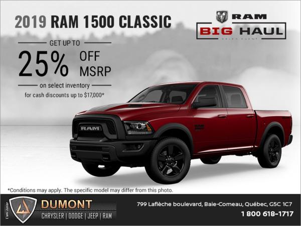 Get the 2019 RAM 1500 Classic
