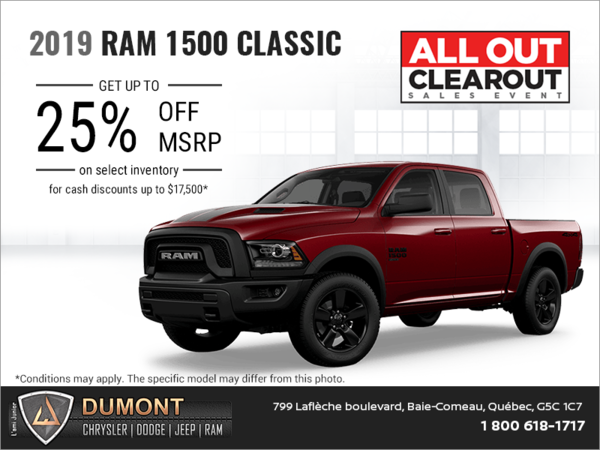 Get the 2019 RAM 1500 Classic