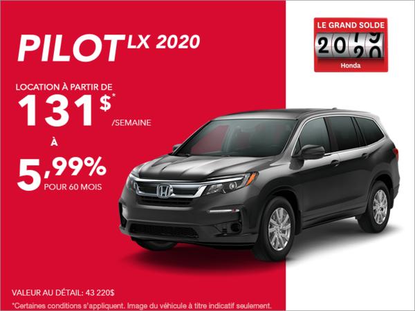 Louez le Honda Pilot 2020!