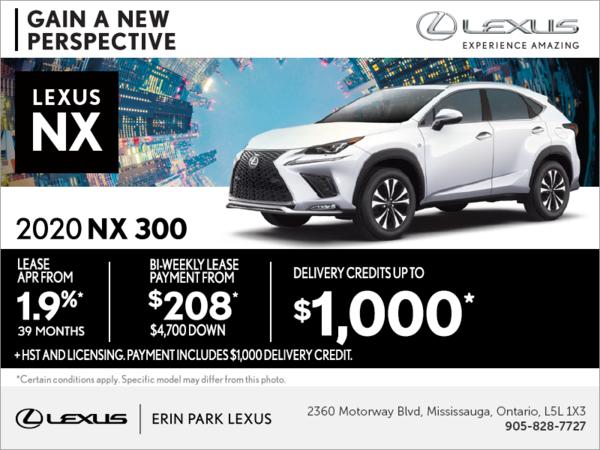 Get the 2020 Lexus NX 300 today!