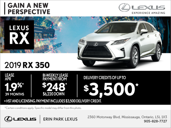 Lease the 2019 Lexus RX 350 today!