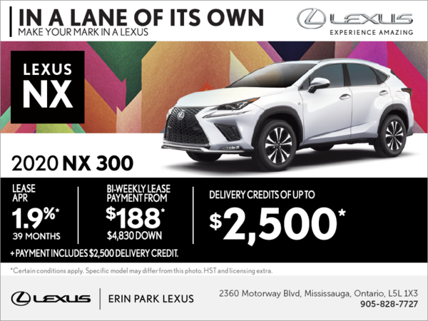 Lease the 2020 Lexus NX 300 today!