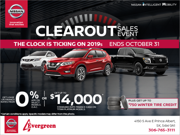 Prince Auto Sales >> Evergreen Nissan In Prince Albert Sales Special Offers