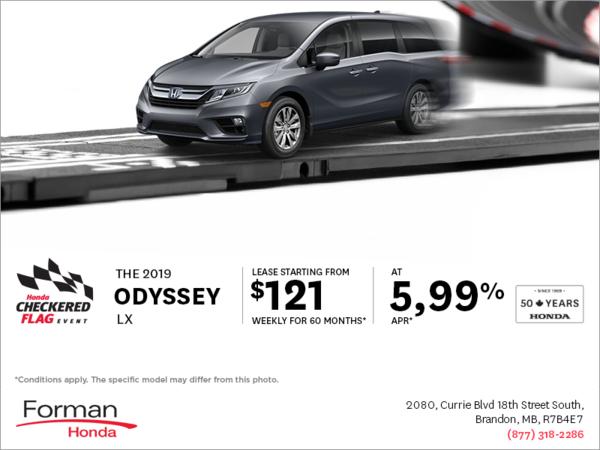 Forman Honda - Get a 2019 Honda Odyssey Today!