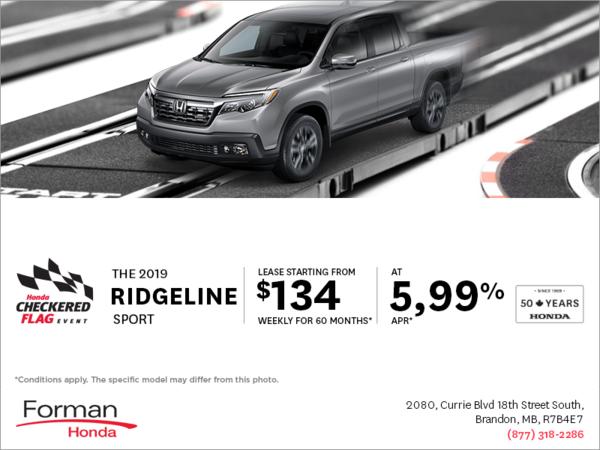 Forman Honda - Get a 2019 Honda Ridgeline Today!