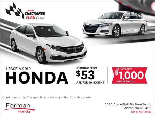 Forman Honda - The Honda Checkered Flag Event!