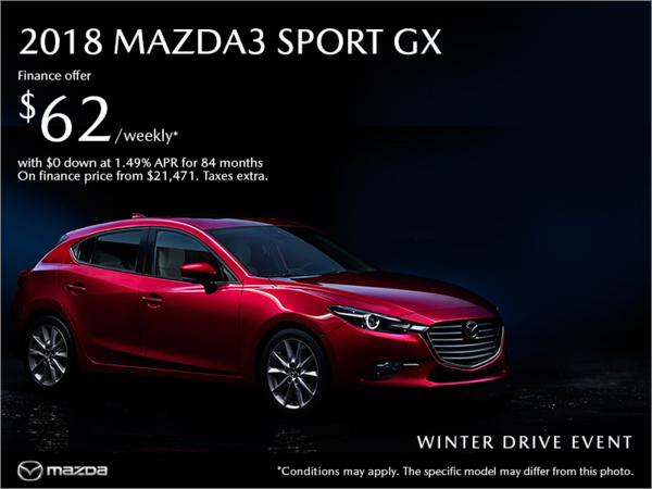 Gerry Gordon's Mazda - Get the 2018 Mazda3 today!