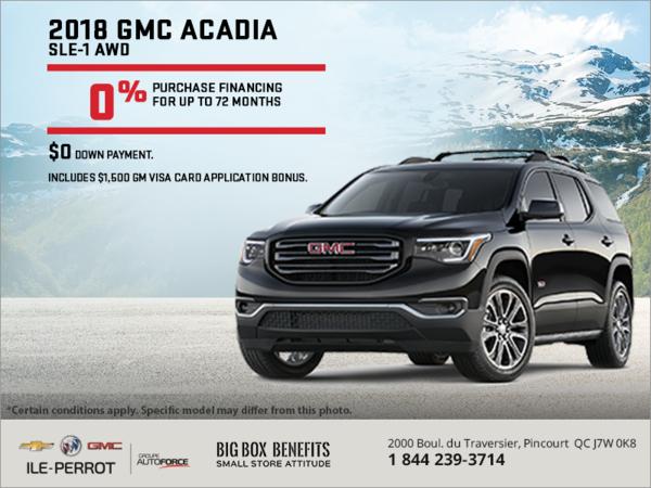 Finance the 2018 Acadia!