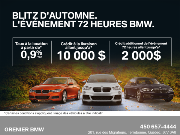 Blitz d'automne. L'événement 72 heures BMW.