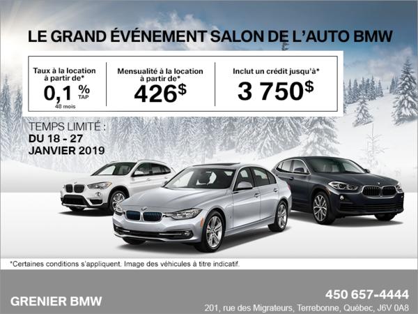 Le grand événement Salon de l'auto BMW