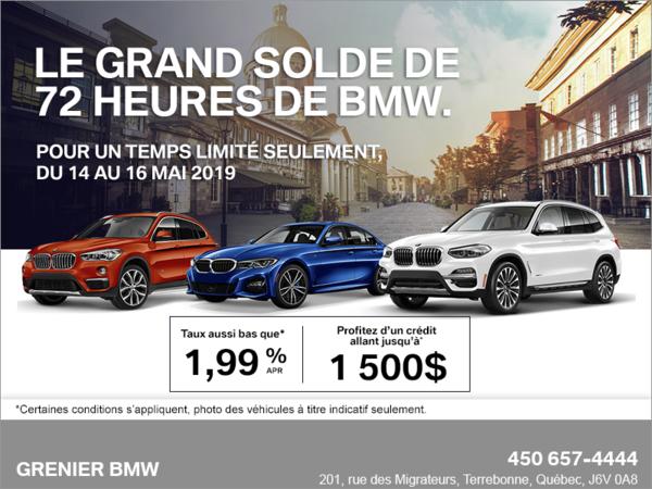 Le Grand Solde de 72 Heures de BMW!