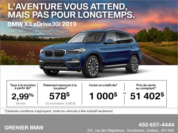 BMW X3 xDrive30i 2019