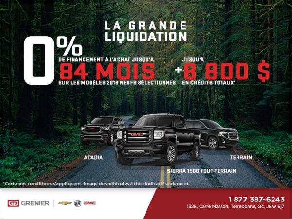 La Grande Liquidation GMC 2018