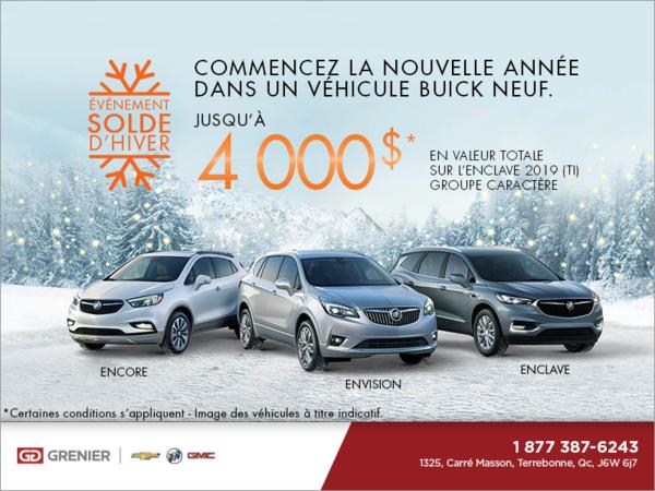 Commencez la nouvelle année dans un véhicule Buick neuf.
