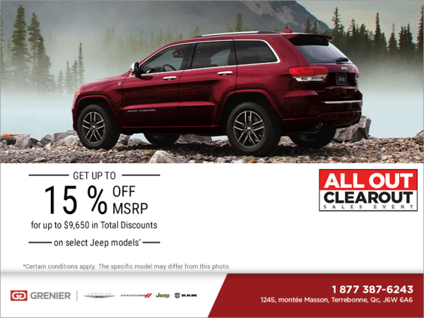 It's the Jeep All Out Clearout Sales Event!