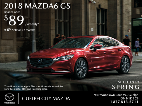 Guelph City Mazda - Get the 2018 Mazda6 Today!