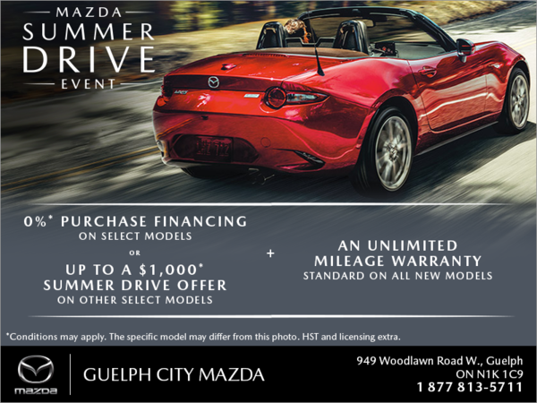 Guelph City Mazda - The Mazda Summer Drive Event