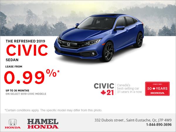 Lease the 2019 Honda Civic!