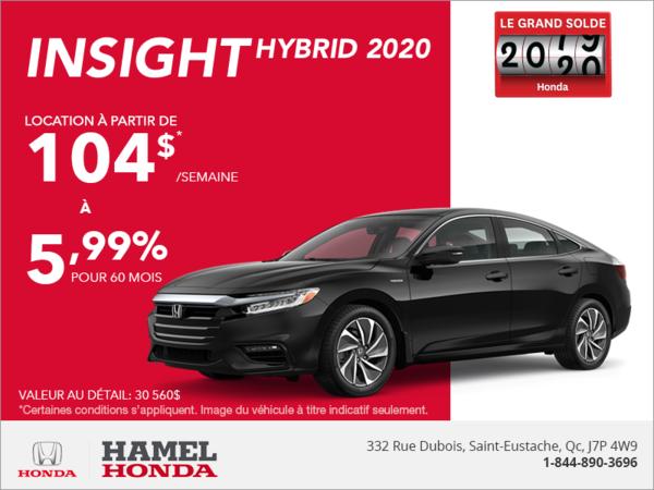 Louez la Honda Insight 2020!