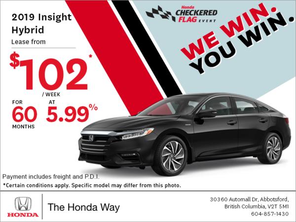 Get the 2019 Honda Insight Hybrid Today!