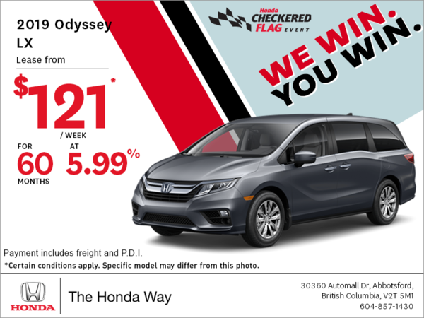 Get the 2019 Honda Odyssey Today!