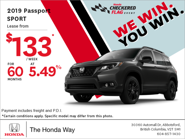Get the 2019 Honda Passport Today!