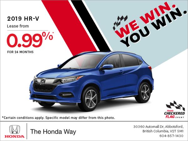 Get the 2019 Honda HR-V Today!