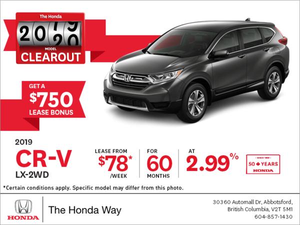 Lease the 2019 Honda CR-V Today!