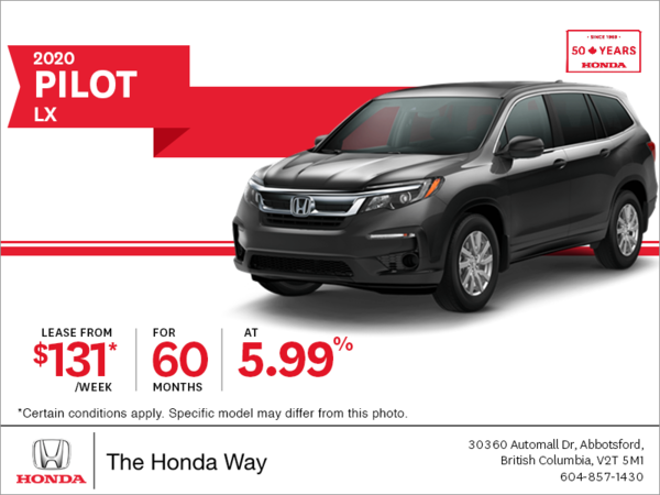 Lease the 2020 Honda Pilot Today!