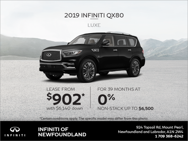 Get a new 2019 INFINITI QX80 today!