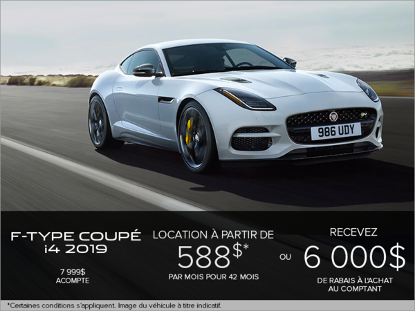 La Jaguar F-TYPE Coupé i4T 2019