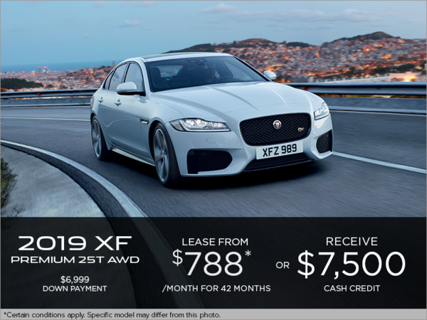 The 2019 Jaguar XF Premium AWD