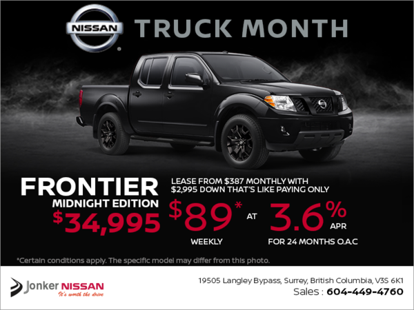 Get the 2018 Frontier Today!