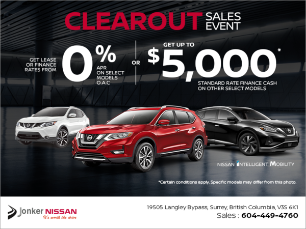 Clearout Sales Event!