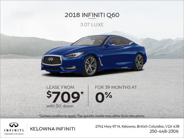 2018 Q60 3.0T Luxe