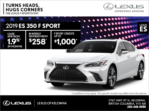 Get the 2019 Lexus ES 350 today!