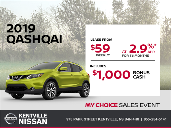 Get the 2019 Nissan Qashqai Today!
