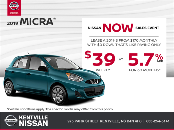 Get the 2019 Nissan Micra Today!