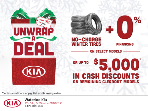 Unwrap a Deal with Kia!