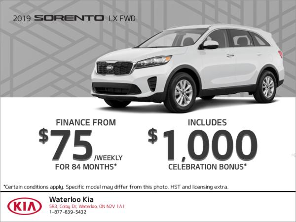 Finance the 2019 Kia Sorento