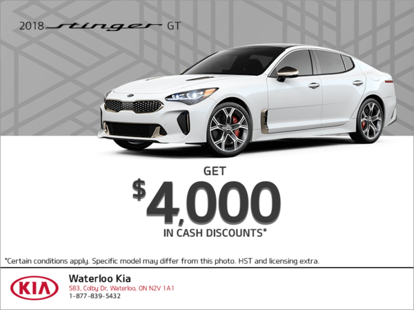 Get the 2018 Kia Stinger!